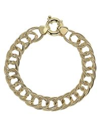 Lord & Taylor | Metallic 14kt Yellow Gold Double Link Bracelet | Lyst