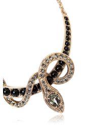 Roberto Cavalli - Metallic Embellished Snake Necklace - Lyst