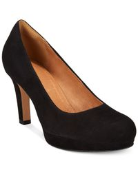 Clarks | Black Artisan Women's Delsie Bliss Platform Pumps | Lyst