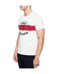 True Religion | White Denim And Goods Mens T-shirt for Men | Lyst