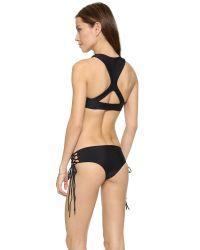 Mikoh Swimwear - Black Barbados Bikini Top - Electric Eel - Lyst