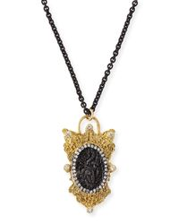 Armenta | Black Old World Layering Charm Necklace | Lyst
