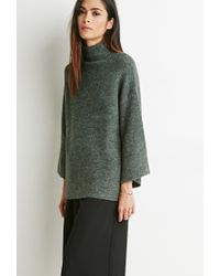 Forever 21 | Green Contemporary Mock Neck Oversized Sweater | Lyst
