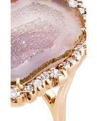 Kimberly Mcdonald | Pink One Of A Kind Geode And Irregular Diamond Ring | Lyst