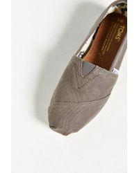 TOMS | Gray Classic Slip-on Shoe for Men | Lyst