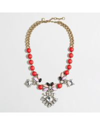 J.Crew | Red Factory Dangling Stone and Petal Necklace | Lyst