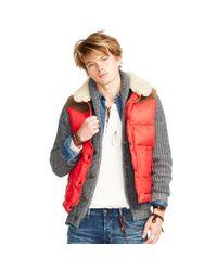 Denim & Supply Ralph Lauren | Red Down-filled Shell Vest for Men | Lyst