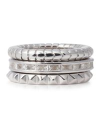 Lara Bohinc | Metallic Sterling Silver Stacking Rings | Lyst