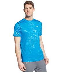 Under Armour | Blue Printed Coldblack Running T-shirt for Men | Lyst