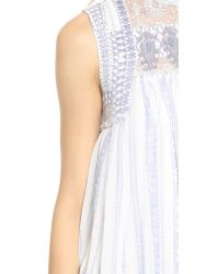 Free People - White Printed Penny Babylon Dress - Deep Navy Combo - Lyst