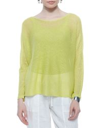 Eileen Fisher | Yellow Linen Box Top | Lyst