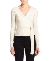 Diane von Furstenberg - Natural Ballerina Wrap Sweater - Lyst