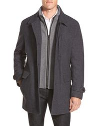 Michael Kors - Gray Car Coat for Men - Lyst