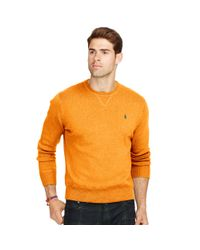 Polo Ralph Lauren | Orange Cotton Crewneck Sweater for Men | Lyst