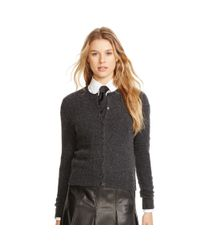 Polo Ralph Lauren - Gray Wool-cashmere Cardigan - Lyst
