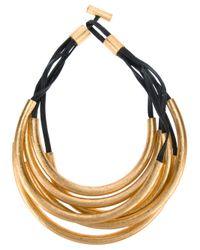 Monies - Metallic Multicircle Necklace - Lyst