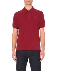 C P Company | Red Short-sleeve Cotton-piqué Polo Shirt for Men | Lyst
