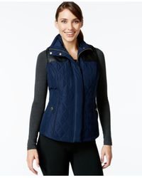 Style & Co. | Blue Style&co. Sport Quilted Zip-front Vest, Only At Macy's | Lyst