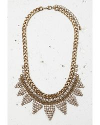 Forever 21 - Metallic Curb Chain Rhinestone Necklace - Lyst