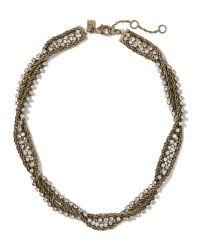 Banana Republic | Metallic Double-chain Necklace | Lyst