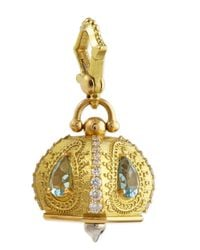 Paul Morelli | Metallic 18k #5 Raja Aquamarine & Diamond Meditation Bell Pendant | Lyst