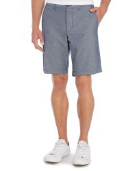 Original Penguin - Blue Oxford Shorts for Men - Lyst