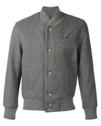 John Elliott - Gray Classic Bomber Jacket for Men - Lyst