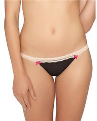 Betsey Johnson | Black Stripe Hype Thong | Lyst