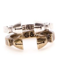 Giles & Brother - Metallic Pied De Biche Ring Set - Lyst
