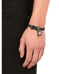 Alexander McQueen - Green Camo Marble-print Leather Bracelet for Men - Lyst