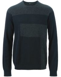 T By Alexander Wang - Black Colour Block Sweater for Men - Lyst