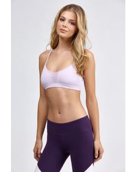 b3fc5eb425628 Lyst - Alo Yoga Goddess Bra in Purple