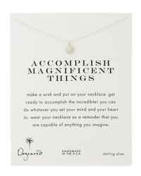 Dogeared - Metallic Gold-dipped Accomplish Magnificent Things Necklace - Lyst