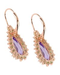 CZ by Kenneth Jay Lane - Purple Earrings - Lyst