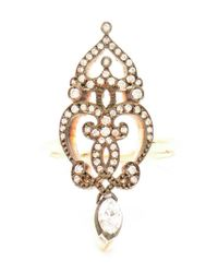 Sabine G - Metallic 18Kt Rose Gold, Marquise And Diamond Ring - Lyst
