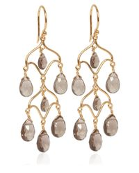 Dinny Hall | Metallic Gold Vermeil Smoky Quartz Chandelier Earrings | Lyst