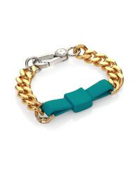 Marc By Marc Jacobs - Green Rubber Large Bow Tie Bracelet - Lyst