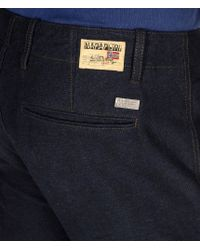 Napapijri - Blue Chinos for Men - Lyst