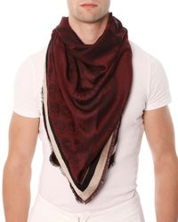 Alexander McQueen | Purple Mens Woven Skull-Print Triangle Scarf for Men | Lyst