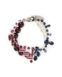 Joomi Lim | Multicolor Crystal Bead Double Strand Bracelet | Lyst