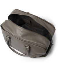 Façonnable - Gray 24-Hour Leather Holdall for Men - Lyst