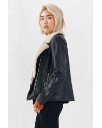 BB Dakota - Black Gabriel Sherpa Trim Jacket - Lyst