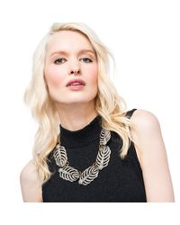 Lulu Frost - Metallic Silvertone Drift Statement Necklace - Lyst