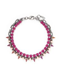 Joomi Lim | Pink 'dynamic Duo' Spike Sphere Necklace | Lyst