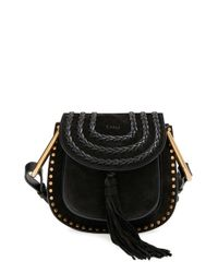Chloé | Black Hudson Mini Suede Cross-Body Bag | Lyst