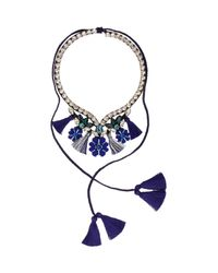 Shourouk - Blue Apache Necklace - Lyst