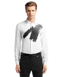 HUGO - White Slim Fit Casual Shirt Evis with Short Back Length for Men - Lyst