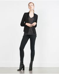 Zara   Gray V-neck Sweater   Lyst