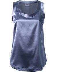 Brunello Cucinelli - Blue Scoop Neck Tank Top - Lyst