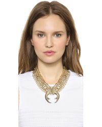 DANNIJO - Brown Guthrie Necklace Antic Gold - Lyst